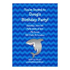 shark party invitations u0026 announcements zazzle co uk