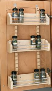 Kitchen Cabinet Door Spice Rack Cabinet Storage Solutions Storage Cabinetry Kitchen