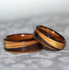 wood wedding rings wooden wedding bands as alternative rings