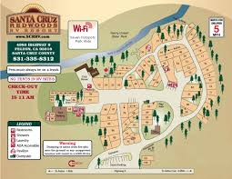 Ucsc Map Santa Cruz Redwoods Rv Resort In Felton Ca 95018