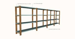 Free Wooden Shelf Bracket Plans by Ana White Easy Economical Garage Shelving From 2x4s Diy Projects