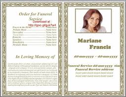 Pictures For Funeral Programs 79 Best Funeral Program Templates For Ms Word To Download Images