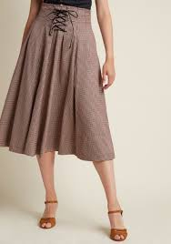 midi skirt woodland wandering lace up midi skirt modcloth