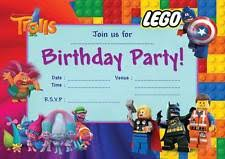 lego invitations ebay