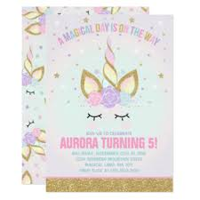 birthday announcements unicorn birthday party invitations announcements au on rainbow