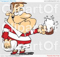funny beer cartoon royalty free rf clipart illustration of a drunk rugby player