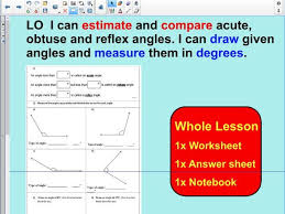 whole lesson drawing angles and measuring angles using a