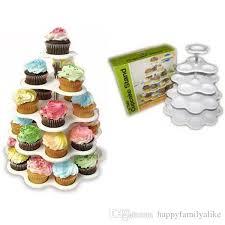 5 tier round cupcake stand cupcakes crystal acrylic cake tower