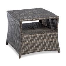 Outdoor Side Table Ideas by Outdoor Side Table With Umbrella Hole Outdoor Patio Tables Ideas