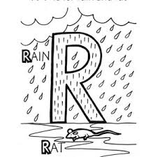 preschool kids learning letter r coloring page bulk color