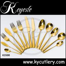 Cutlery Sets Gold Plated Flatware Sets Bulk Gold Cutlery Gold Plated Wedding