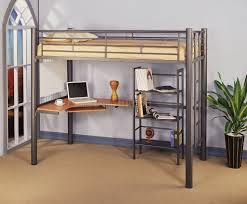 girls loft bed with a desk and vanity bedroom white loft bed with desk and roller chair underneath for