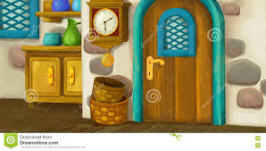 cartoon background for fairy tale interior of old fashioned