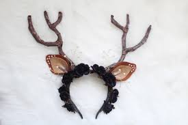 deer ears headband handmade deer flower crown headband jaleesa charisse