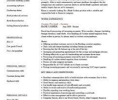 cashier resume responsibilities graduate financial advisor cv bank cashier cv template work