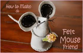 photo tutorial how to make felt mice and the one that got away