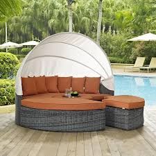 modway summon canopy outdoor patio daybed u2013 modish store