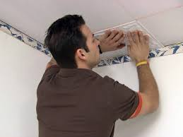 Installing Ceiling Tiles by How To Install A Tin Tile Ceiling How Tos Diy