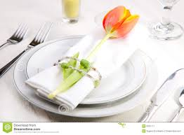 Spring Table Settings Spring Table Settings Royalty Free Stock Photography Image 8097717