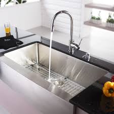 lovely sink with soap dispenser kraus 36 inch farmhouse single