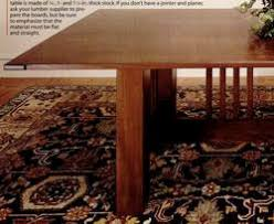 arts and crafts plans dining table woodworking plans and