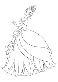 princess frog coloring sheets girls