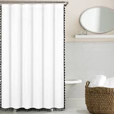 Pow Shower Curtain herringbone shower curtain instacurtains us