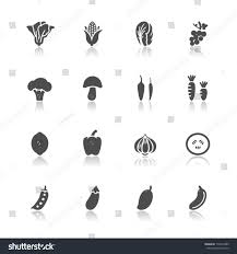 vegetables fruits icons white background stock vector 170474489