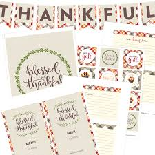 happy thanksgiving printable thanksgiving printable party set pizzazzerie