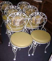 Cast Iron Bistro Chairs Antique Wrought Iron Woodysantiques Wrought Iron Wonderful