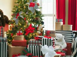alluring room with xmas tree decorations idea using string lamps