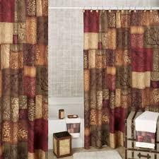 Bathroom Shower Curtain And Rug Set Bathroom Beautiful Pine Cone Block Bathroom Shower Curtain Design