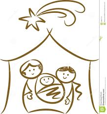 simple nativity scene stock photo image 10987170