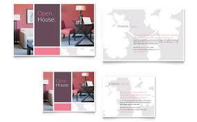 interior designer brochure template design