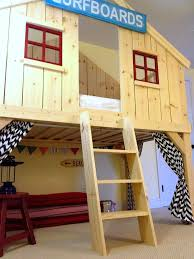 Make Wood Bunk Beds by Ana White Clubhouse Bed Diy Projects
