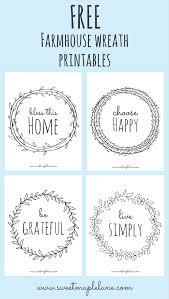 Home Decor Sayings by Farmhouse Wreath Printables Wreaths Cricut And Craft