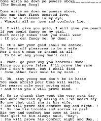 Comfort Me Lyrics Old English Song Lyrics For Come Write Me Down Ye Powers Above
