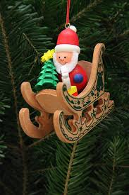 tree ornament santa claus in sleigh 7 5 7 1 cm 3 3in by