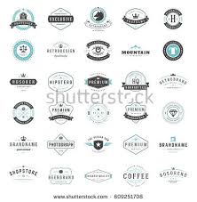design a vintage logo free vintage logos design templates set vector stock vector hd royalty