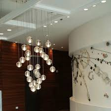 Cascading Glass Bubble Chandelier Lighting Beauty Home Lighting Decor With Floating Bubble