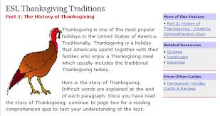 thanksgiving esl efl resources chestnut esl efl