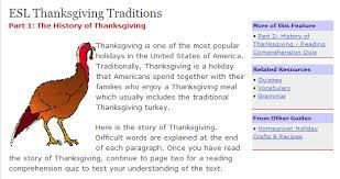 thanksgiving esl efl resources chestnut esl efl