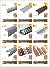 Non Slip Nosing Stairs by Step Safety L Shape Stair Nosing For Vinyl Floor Aluminium Non