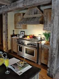kitchen barn wood cabinets cabin ated pinterest barn wood