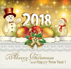 merry and happy new year 2018 stock vector more