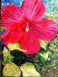thread painting art quilts camellia by melinda bula california