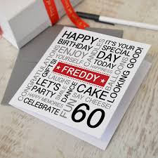 60 Birthday Cards Personalised 60th Birthday Card By A Type Of Design