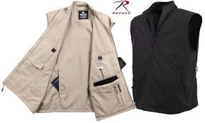 travel vests images Mens undercover tactical travel vest rothco black or khaki 12 jpeg