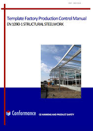 template of factory production control manual