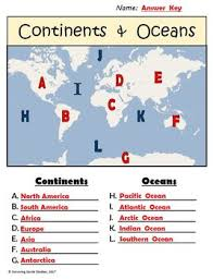 geography worksheets continents oceans usa rivers u0026 parts of a map